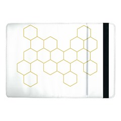 Honeycomb pattern graphic design Samsung Galaxy Tab Pro 10.1  Flip Case by picsaspassion