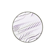 Lilac Stripes Hat Clip Ball Marker (4 Pack) by picsaspassion
