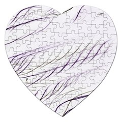 Lilac stripes Jigsaw Puzzle (Heart) by picsaspassion