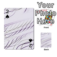 Lilac Stripes Playing Cards 54 Designs  by picsaspassion