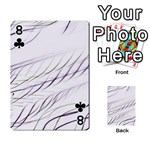 Lilac stripes Playing Cards 54 Designs  Front - Club8