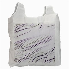 Lilac Stripes Recycle Bag (two Side)  by picsaspassion