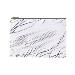 Lilac Stripes Cosmetic Bag (large)  by picsaspassion
