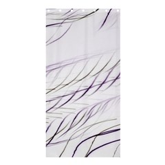 Lilac Stripes Shower Curtain 36  X 72  (stall)  by picsaspassion