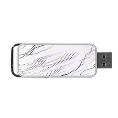 Lilac Stripes Portable Usb Flash (two Sides) by picsaspassion