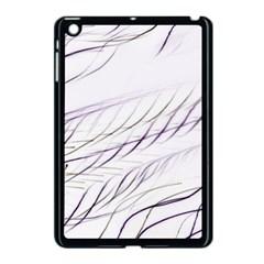 Lilac Stripes Apple Ipad Mini Case (black) by picsaspassion