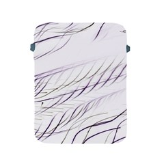 Lilac Stripes Apple Ipad 2/3/4 Protective Soft Cases by picsaspassion