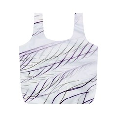 Lilac Stripes Full Print Recycle Bags (m)  by picsaspassion