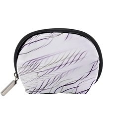 Lilac Stripes Accessory Pouches (small)  by picsaspassion
