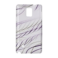 Lilac Stripes Samsung Galaxy Note 4 Hardshell Case by picsaspassion