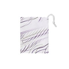Lilac Stripes Drawstring Pouches (xs)  by picsaspassion