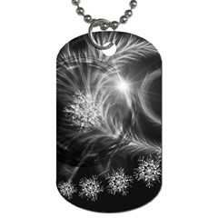 Silver Feather And Ball Decoration Dog Tag (two Sides) by picsaspassion
