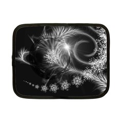 Silver Feather And Ball Decoration Netbook Case (small)  by picsaspassion