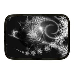 Silver Feather And Ball Decoration Netbook Case (medium)  by picsaspassion