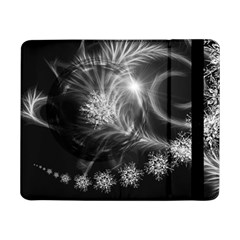 Silver Feather And Ball Decoration Samsung Galaxy Tab Pro 8 4  Flip Case by picsaspassion