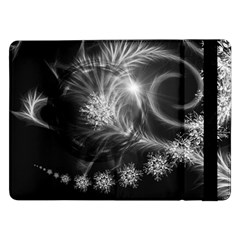Silver Feather And Ball Decoration Samsung Galaxy Tab Pro 12 2  Flip Case