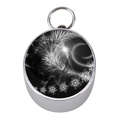 Silver Feather And Ball Decoration Mini Silver Compasses by picsaspassion