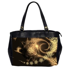 Golden Feather And Ball Decoration Office Handbags (2 Sides)