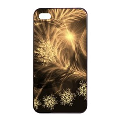 Golden Feather And Ball Decoration Apple Iphone 4/4s Seamless Case (black) by picsaspassion