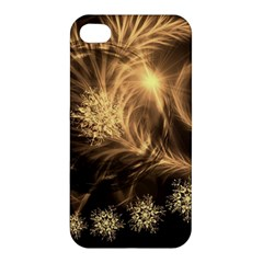 Golden Feather And Ball Decoration Apple Iphone 4/4s Hardshell Case by picsaspassion