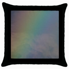 Between The Rainbow Throw Pillow Case (black) by picsaspassion