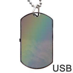 Between The Rainbow Dog Tag Usb Flash (two Sides)  by picsaspassion