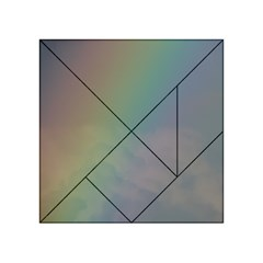 Between The Rainbow Acrylic Tangram Puzzle (4  X 4 ) by picsaspassion