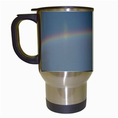 Colorful Rainbow Travel Mugs (white) by picsaspassion