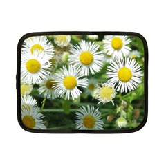 White Summer Flowers, Watercolor Painting Netbook Case (small)  by picsaspassion
