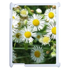 White Summer Flowers, Watercolor Painting Apple Ipad 2 Case (white) by picsaspassion