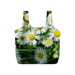 White Summer Flowers, Watercolor Painting Full Print Recycle Bags (s)  by picsaspassion