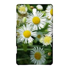 White Summer Flowers, Watercolor Painting Samsung Galaxy Tab S (8 4 ) Hardshell Case  by picsaspassion
