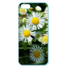 White Summer Flowers Oil Painting Art Apple Seamless Iphone 5 Case (color) by picsaspassion