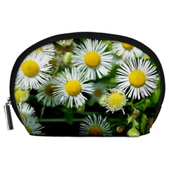White Summer Flowers Oil Painting Art Accessory Pouches (large)  by picsaspassion