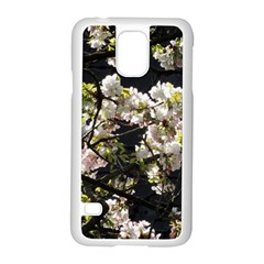 Japanese Cherry Blossom Samsung Galaxy S5 Case (white) by picsaspassion