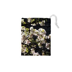 Japanese cherry blossom Drawstring Pouches (XS)  by picsaspassion