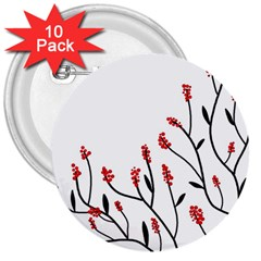 Elegant Tree 3  Buttons (10 Pack)  by Valentinaart