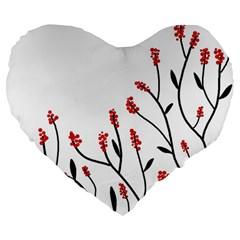 Elegant Tree Large 19  Premium Heart Shape Cushions by Valentinaart