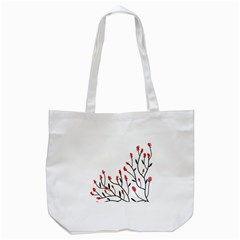 Elegant Tree Tote Bag (white) by Valentinaart