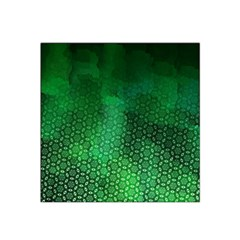 Ombre Green Abstract Forest Satin Bandana Scarf
