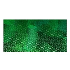 Ombre Green Abstract Forest Satin Shawl