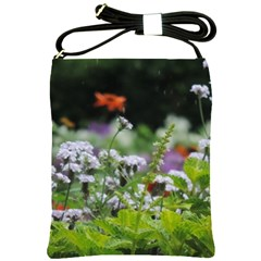 Wild Flowers Shoulder Sling Bags by picsaspassion