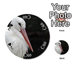 Stork Bird Playing Cards 54 (round)  by picsaspassion