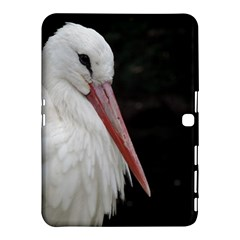 Stork bird Samsung Galaxy Tab 4 (10.1 ) Hardshell Case  by picsaspassion