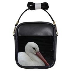 Wild Stork Bird Girls Sling Bags by picsaspassion