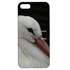 Wild Stork Bird Apple Iphone 5 Hardshell Case With Stand by picsaspassion