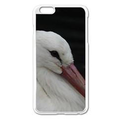 Wild Stork Bird Apple Iphone 6 Plus/6s Plus Enamel White Case by picsaspassion