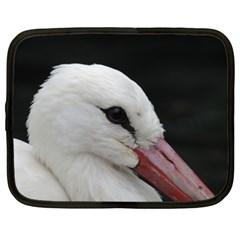 Wild Stork Bird, Close Up Netbook Case (xxl)  by picsaspassion