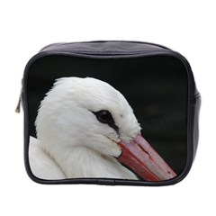 Wild Stork Bird, Close Up Mini Toiletries Bag 2 Side by picsaspassion