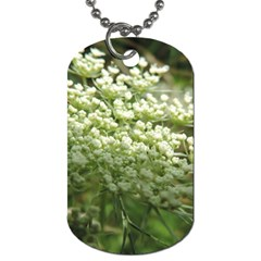 White Summer Flowers Dog Tag (one Side) by picsaspassion